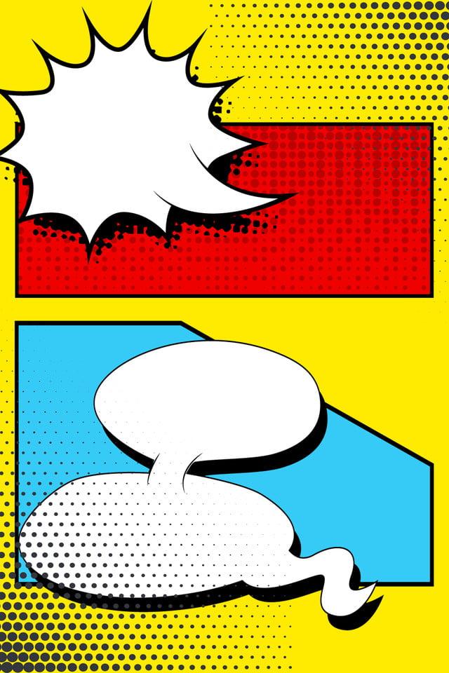 11 Comic Box Pop Wind Bright Color, Pop, Comic, Wave Point