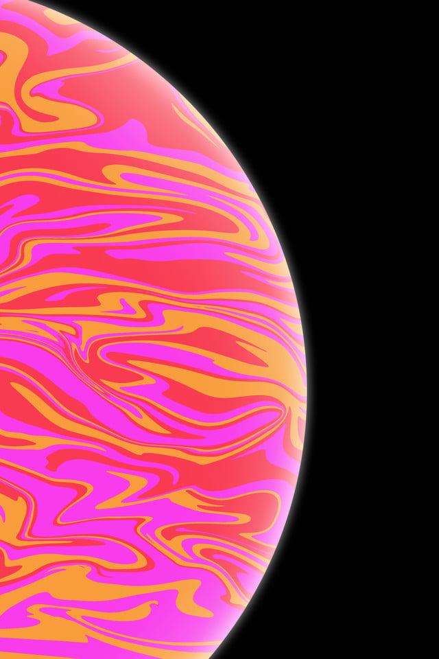 Iphonexs Apple Wallpaper Semplice Vernice Vento Rosso Arancione 2018
