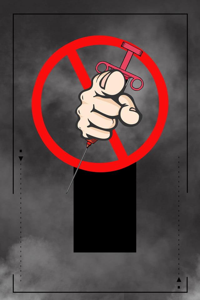 Poster Hari Anti Dadah Dunia Hitam Hari Anti Dadah Isyarat Jarum