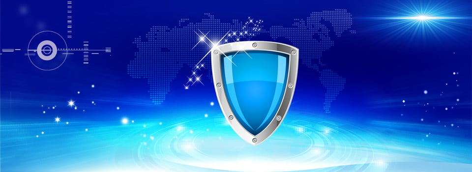 image of anti fraud with virtual cards - blue cyber shield
