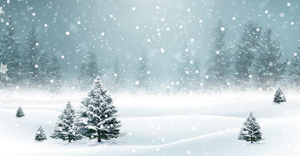 Schoner Winter Schneiender Plakathintergrund Schon Frisch Li Dong