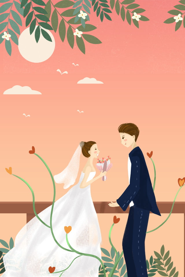 Beautiful Romantic Couple Propose Wedding Bridegroom Bride Background Image For Free Download