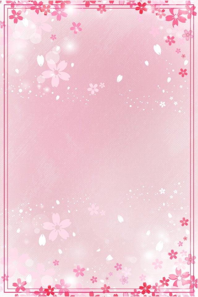 beautiful romantic flower invitation card pink greeting