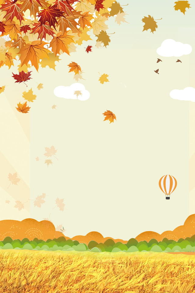 foto de Automne Automne Feuilles Dautomne Affiche De Ballon à Air Chaud Li ...