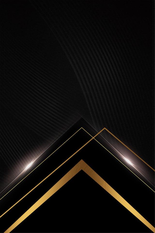 Black Gold Business Meeting Simple, Black, Gold, Geometric ...