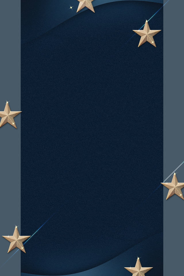 Blue Invitation Card Simple Atmosphere Star Business
