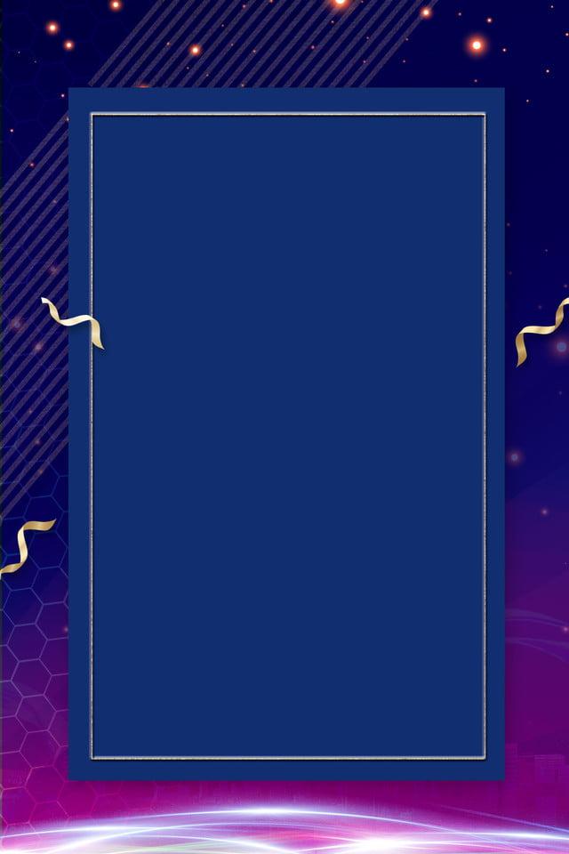 Business Gradient Frame Blue Background Ribbon Creative