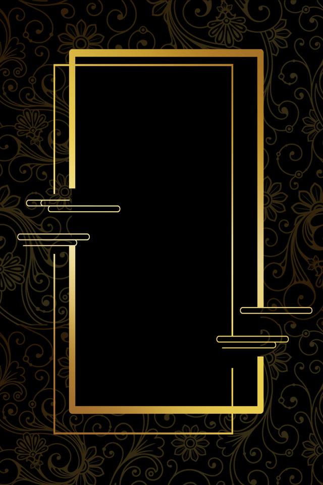 Business Invitation Invitation Card Business Black Gold