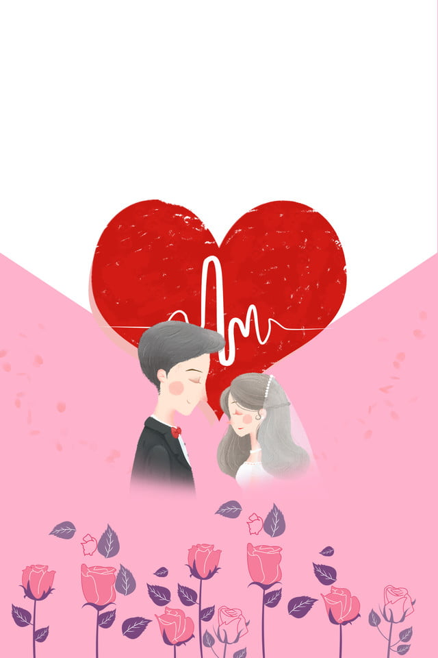 Cartoon Lovely Wedding Invitation Card Wedding Invitation Hand