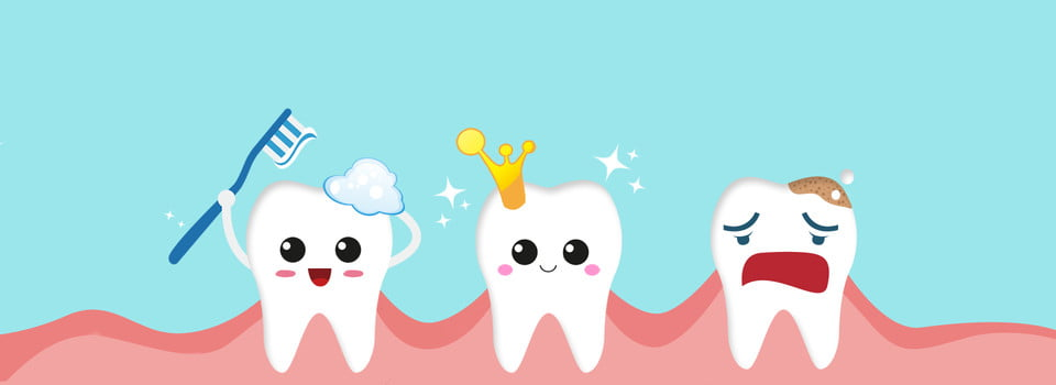 Cartoon Tooth Nursing Brushing Teeth Love The Teeth Love Tooth Protect Teeth Fresh Background Image For Free Download