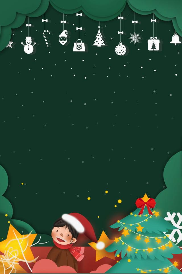 Christmas Green Background Christmas Tree Christmas