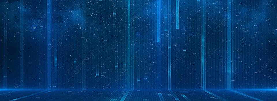 Modello Di Sfondo Tech Linee Blu Città Scienza E Tecnologia Blu Hd