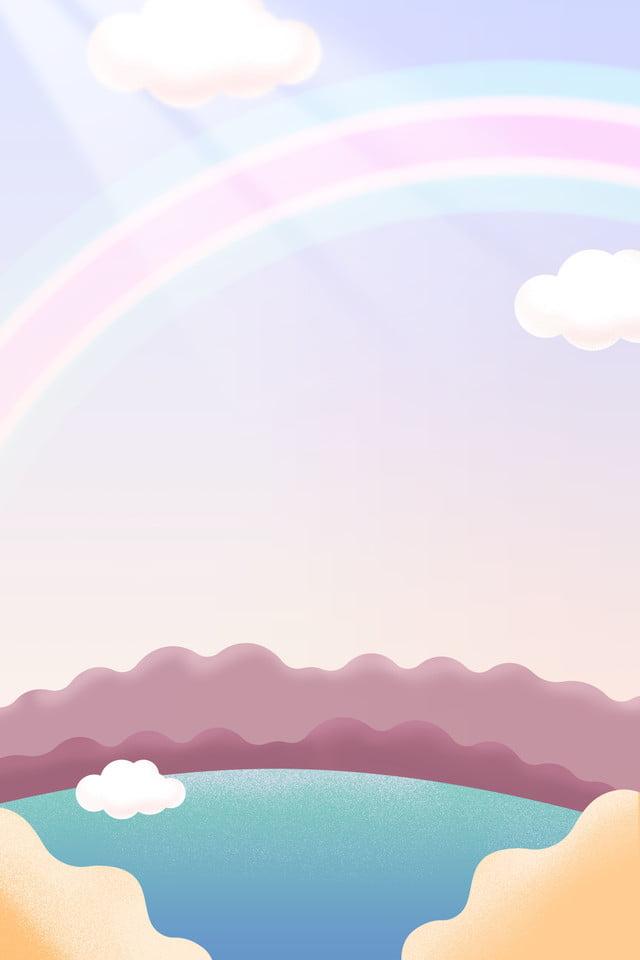Nuvens Coloridas Arco Iris Ceu Fundo Sonhador Cor Cloud Sky