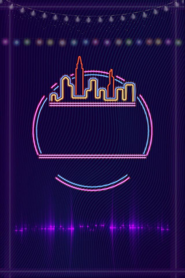 Cool Purple Neon Light, Illuminate, Light Effect, Special