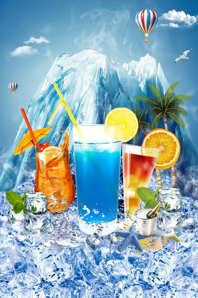 1fb1f229e ملصق ثلج لشرب الثلج بارد الصيف جليدي مكعبات الثلج مشروب الثلج مشروبات دعاية  الملصق إعلان خلفية
