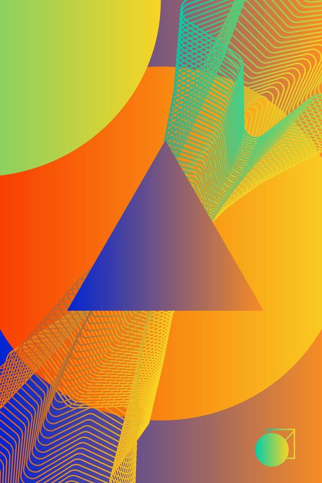 Tonalités chaudes fond daffiche dégradé géométrique mosaïque Créatif ...