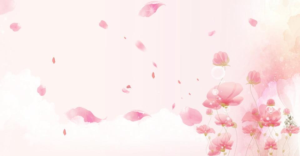 Banner Di Sfondo Rosa Fresca Creativo Foglia Sintesi Affari Affari