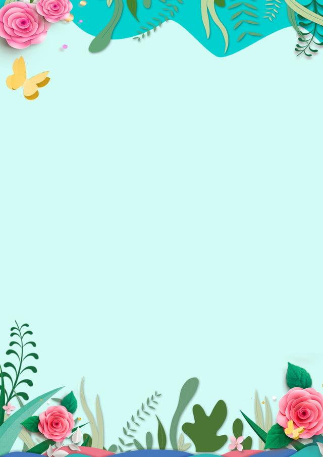 Creative Simple Fresh Paper Cutting Flower Splice Border