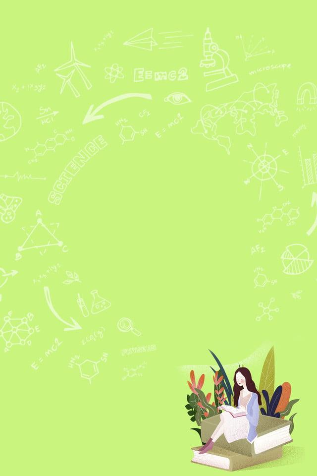 Frisches Mädchen Das Hintergrundillustration Lernt Kreative