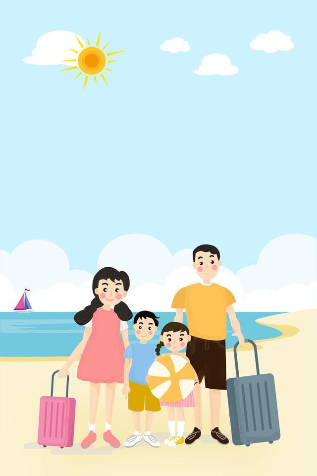 Kết quả hình ảnh cho hình ảnh du lịch gia đình hoạt hình