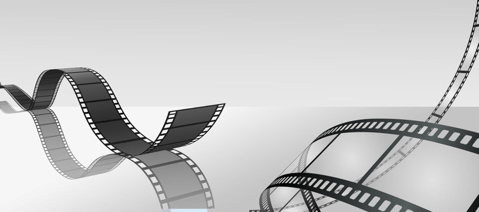 Film Video Tape Gray Banner Film Video Tape Gray
