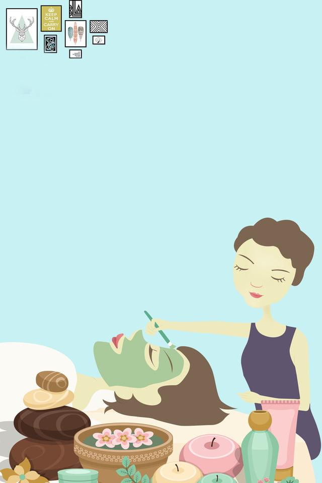 Salud Y Belleza Otoño Otoño Plano Dibujos Animados Salud La