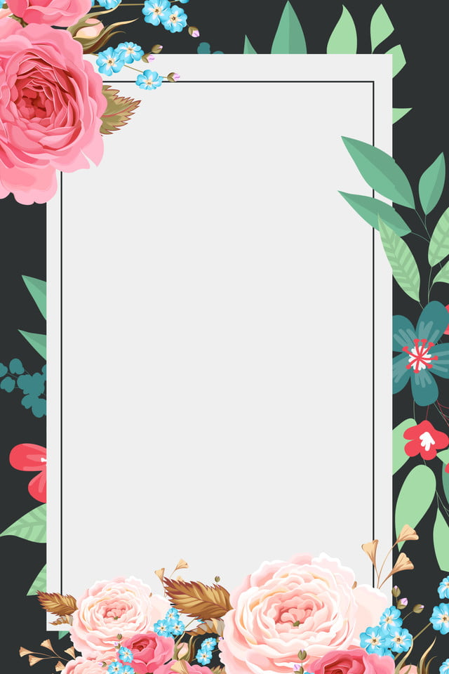 Free Vector | Green floral border |Green Flower Border