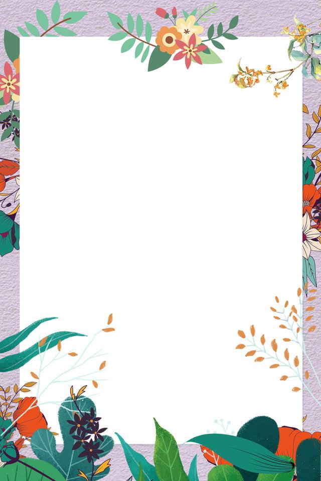 Fresh Hand Painted Fresh Flowers Invitation Card Wedding