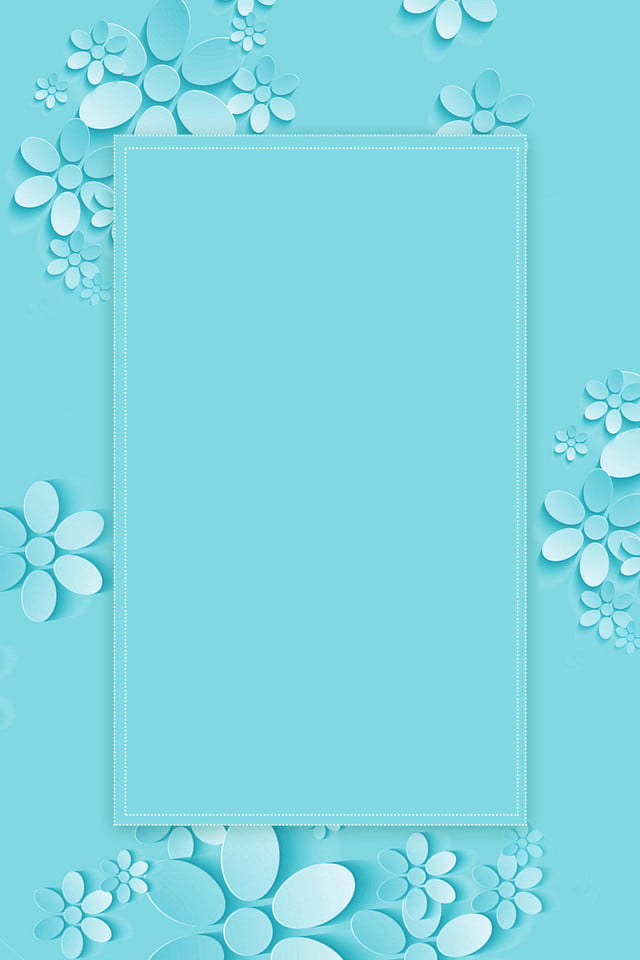 Fresh Simple Stereoscopic Paper Cutting Flower Border Background