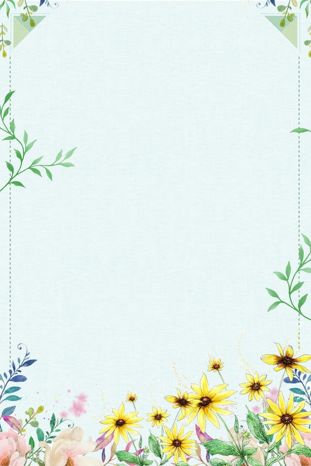 Green Flowers Green Border Simple Art, Simple, Flowers ... |Green Flower Border