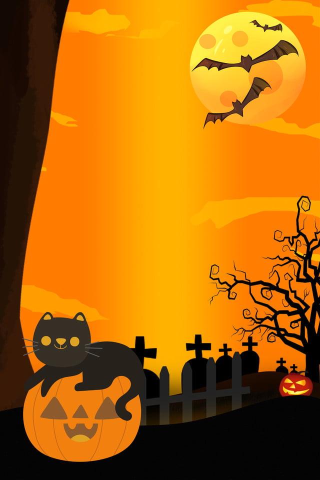Affiche De Chat Noir Halloween Citrouille Halloween Joyeux