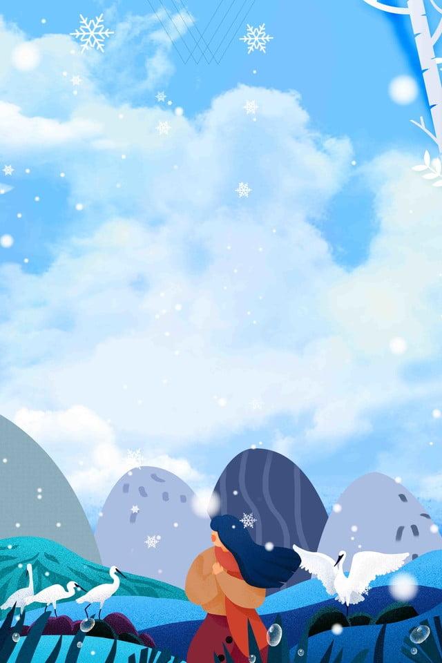 Arte Inverno Fresco Dicembre Buongiorno Poster Creativo Ciao A