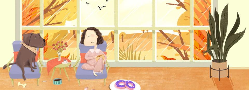 無料ダウンロードのための10月こんにちは秋の日ウィンドウ風景イラスト背景 10月こんにちは 10月 あき 市 余暇 時間 イラストレーターのスタイル 少女 子犬 家具 ホーム 植物 バナー 10月こんにちは 10月 あきの背景画像