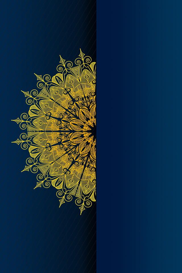 Invitation Card Business Totem Pattern Totem Blue