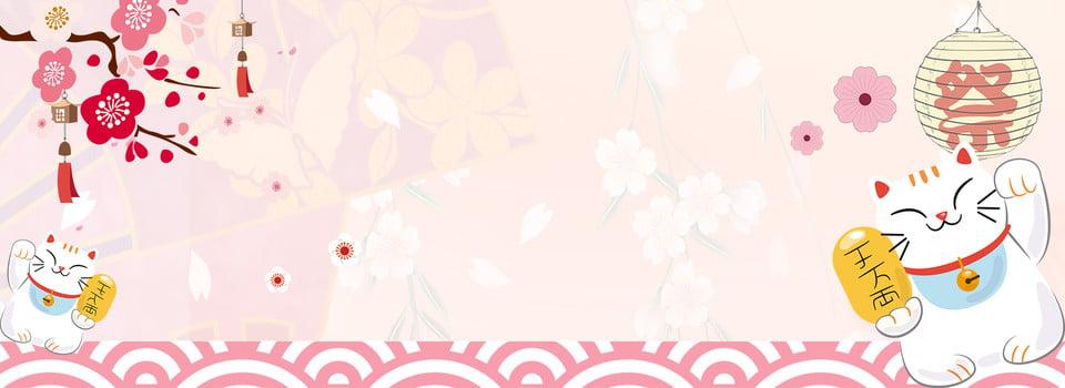 Latar Belakang Poster Merah Jambu Jepun Dan Angin Jepun Zephyr