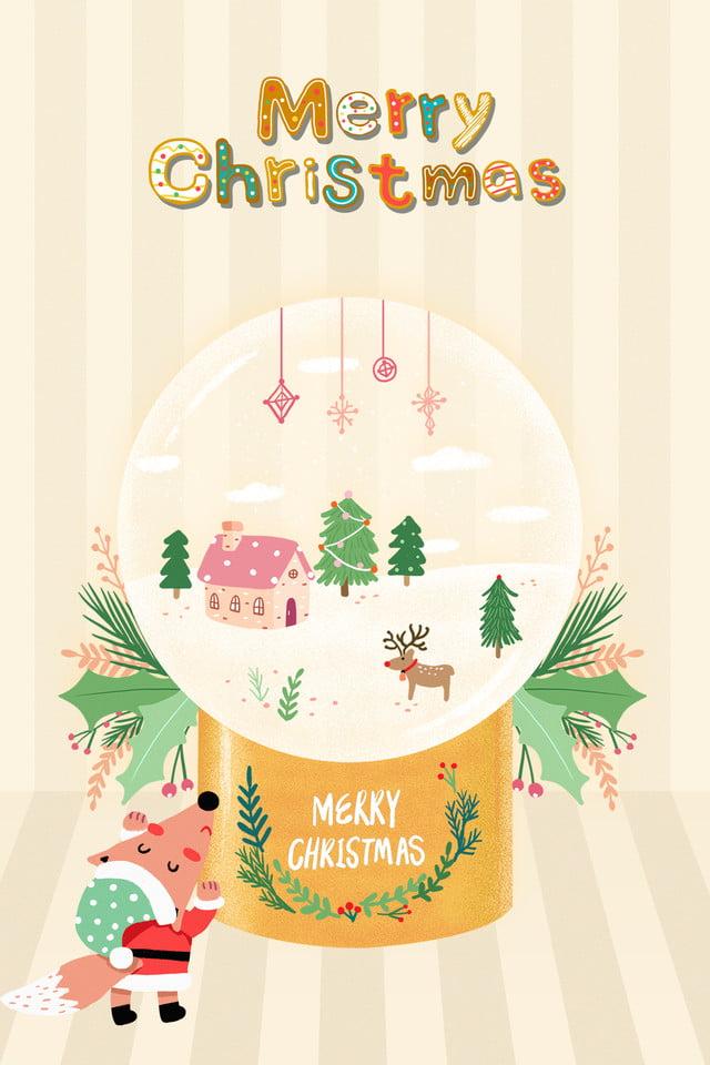 Merry Christmas In Korean.Korean Style Illustrator Style Christmas Merry Christmas