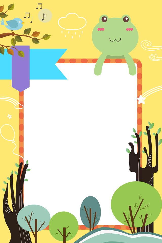 Cartone animato piccola rana h sfondo bello cartone animato