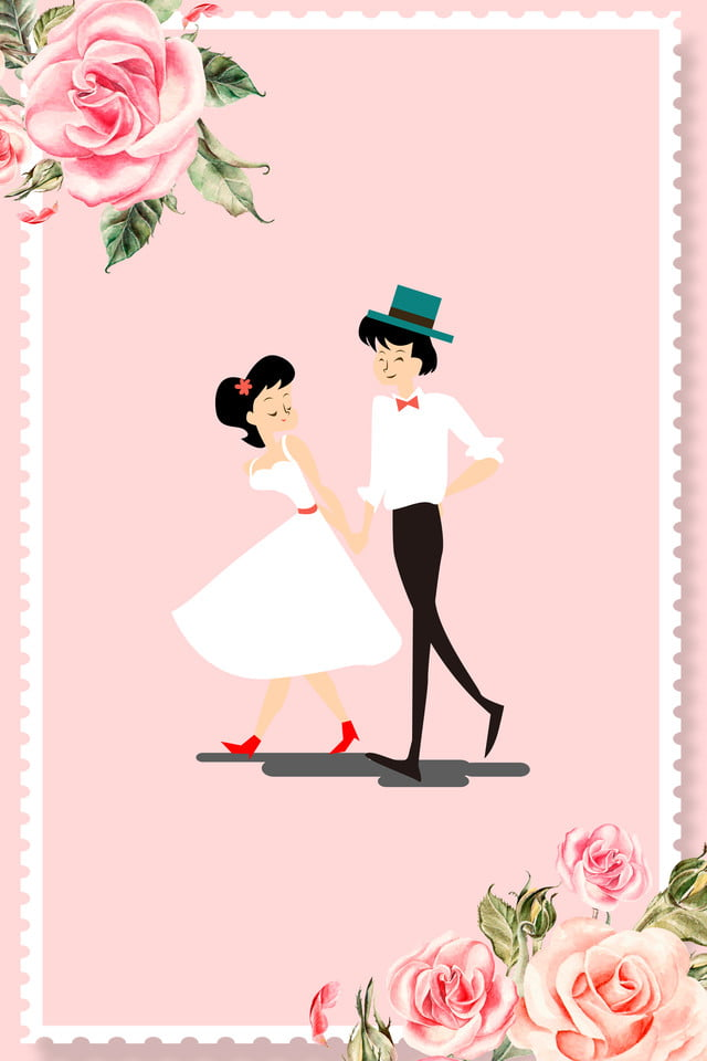Lovely Cartoon Wedding Wedding Invitation Invitation Card