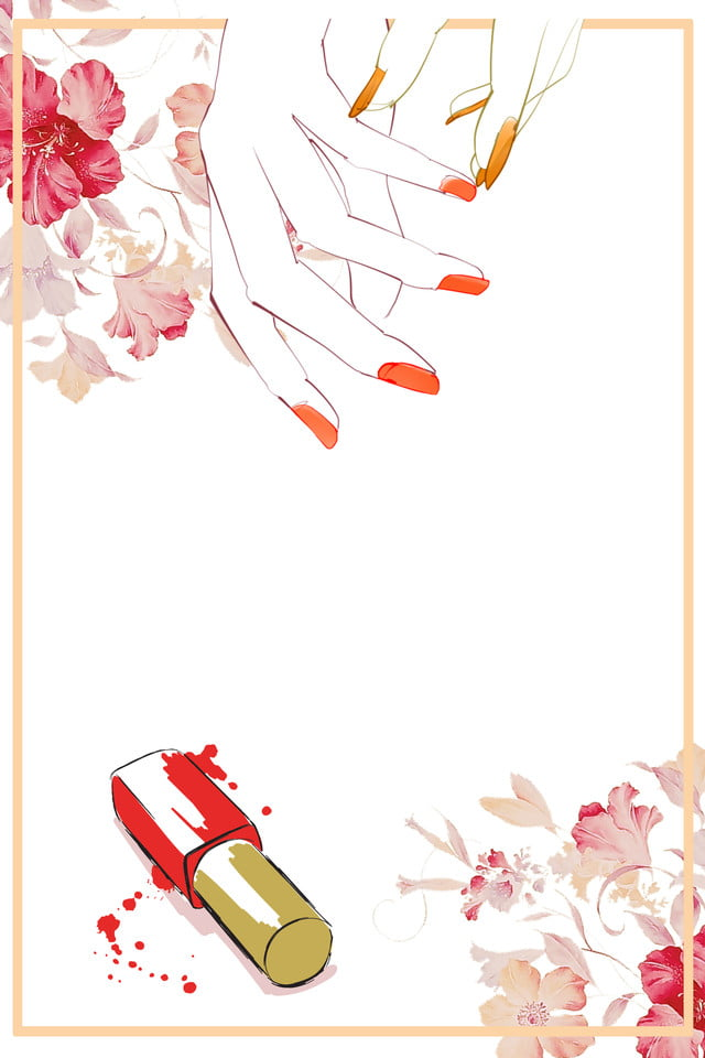 Manucure Peint A La Main Simple Frais Dessin Anime Vernis A Ongle Cadre Image De Fond Pour Le Telechargement Gratuit
