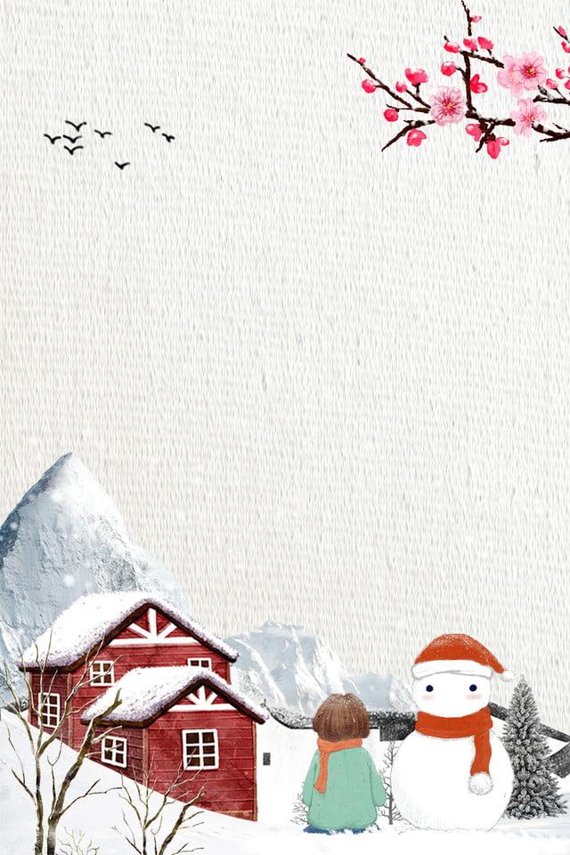Novembre Bonjour Bonhomme De Neige Enfants Affiche De