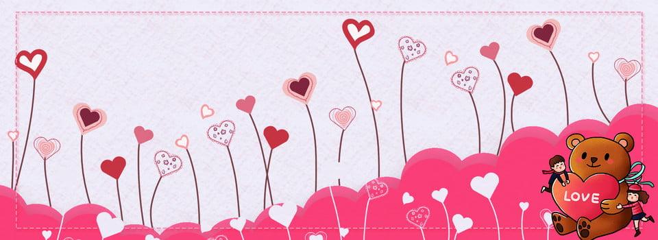 Personaggio dei cartoni animati bear sfondo san valentino origami