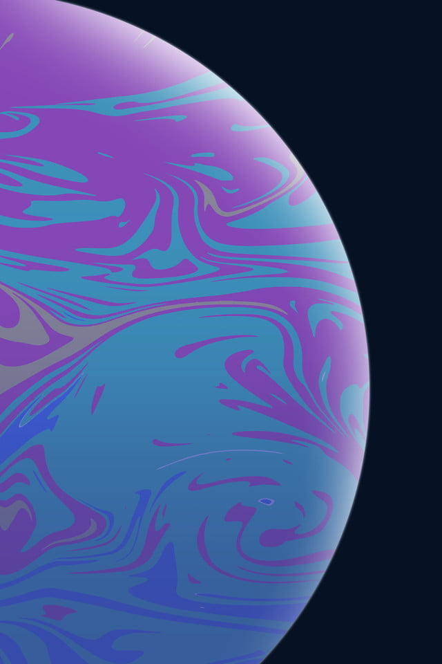 Paint Style Apple Wallpaper Iphone Xs Planet Simple