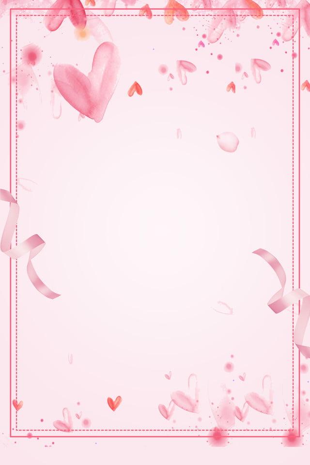 Fondo Fresco Rosado De La Publicidad Del Amor De La
