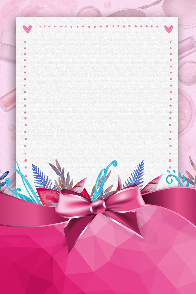 Pink Fresh Simple Express Day Butterfly Festival Border Background