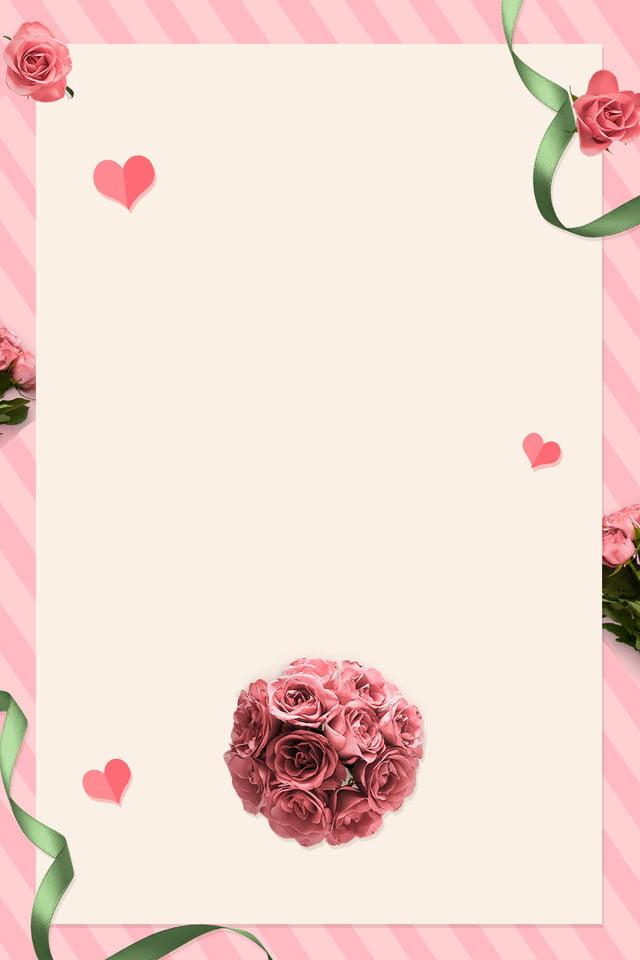 وردي رومانسية دعوة زفاف خلفية التوضيح Psd وردي رومانسي زفاف