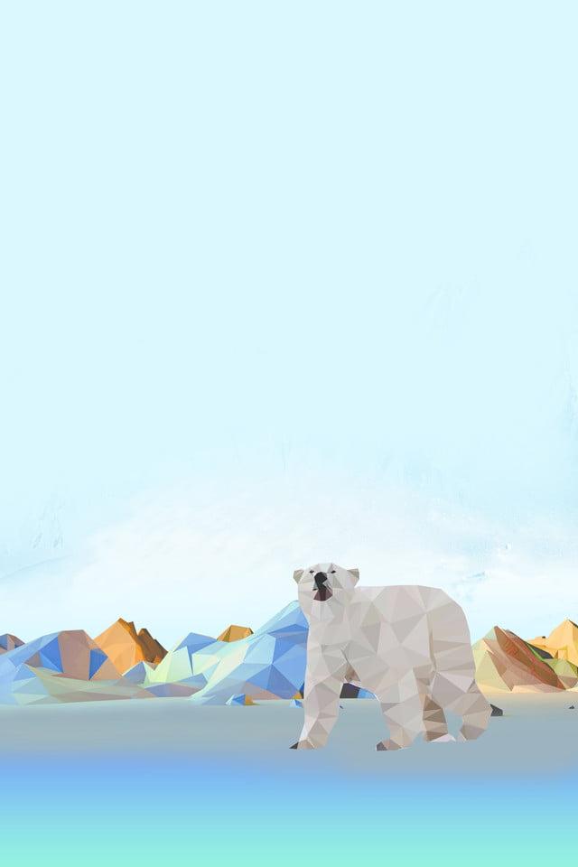 بولي نمط القطبية القطبية البيضاء الدب القطبي الجليد حماية البيئة المياه أسلوب بولي حذاء فوقي فوقي أسلوب الثلج صورة الخلفية للتحميل مجانا