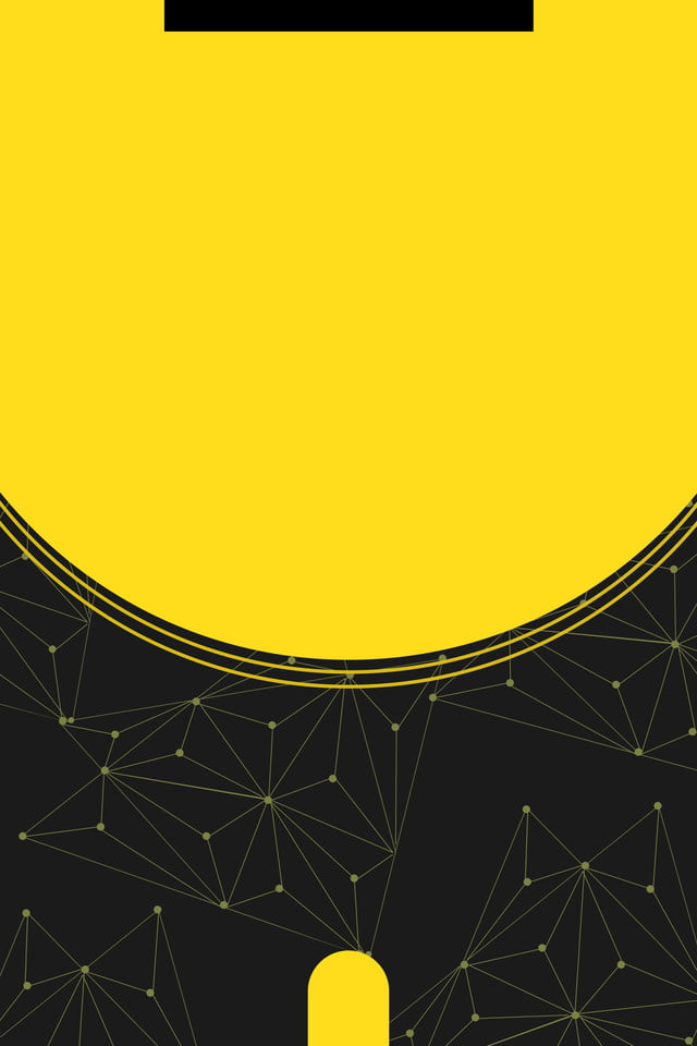 Round Black And Yellow Color Technology Work Permit Work Card Listing Background Design Background Image For Free Download