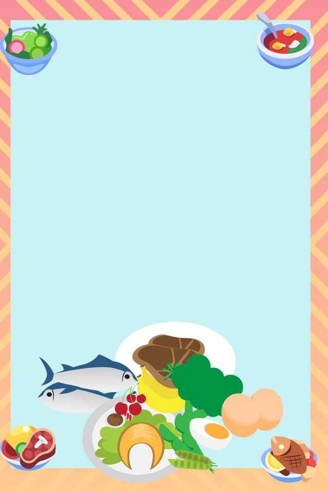 Otoño Otoño Otoño Salud Carne Simple Plano Dibujos Animados La Carne