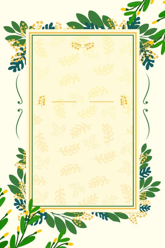 Simple Hand Painted Leaf Invitation Card Ad Invitation
