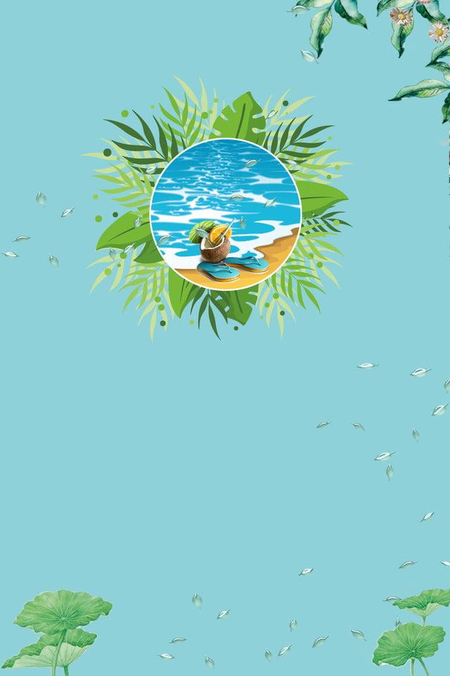 842b3c9d2593 Summer Plant Fresh Poster Green Leaf Beach